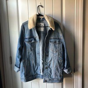Sherpa Detachable Collar Jean Jacket